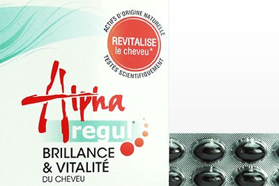 Face de la boite de Alpha regul brillance