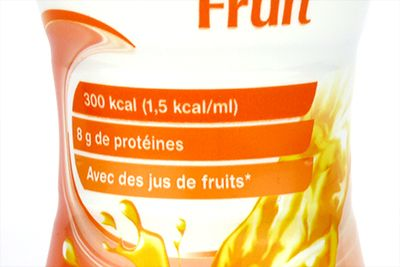 Etiquette de Clinutren fruit