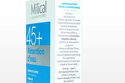 Formule de Milical rétention d'eau