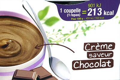 gerlinea repas minceur creme chocolat